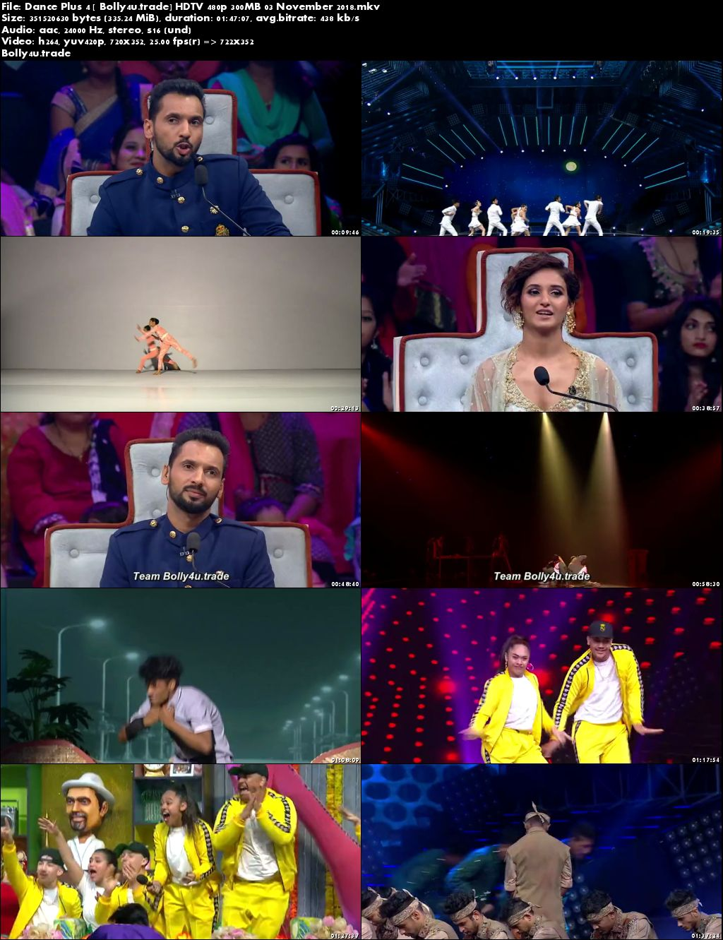 Dance Plus Season 4 HDTV 480p 300MB 03 November 2018 Download