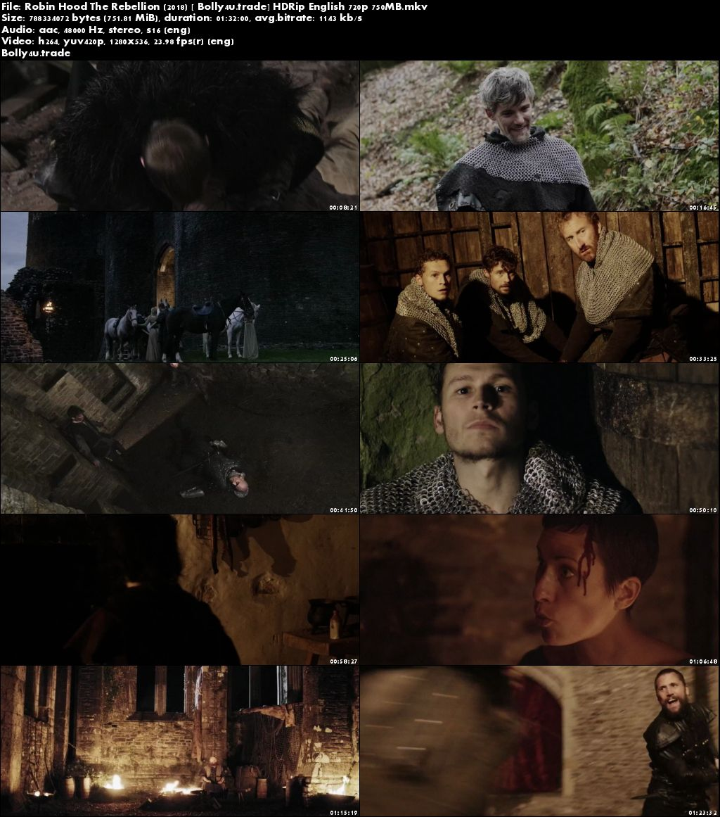 Robin Hood The Rebellion 2018 HDRip 300MB English 480p Download