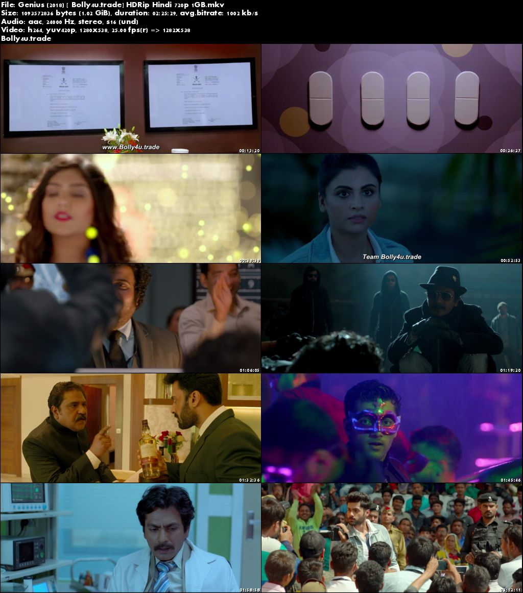 Genius 2018 HDRip 1Gb Full Hindi Movie Download 720p