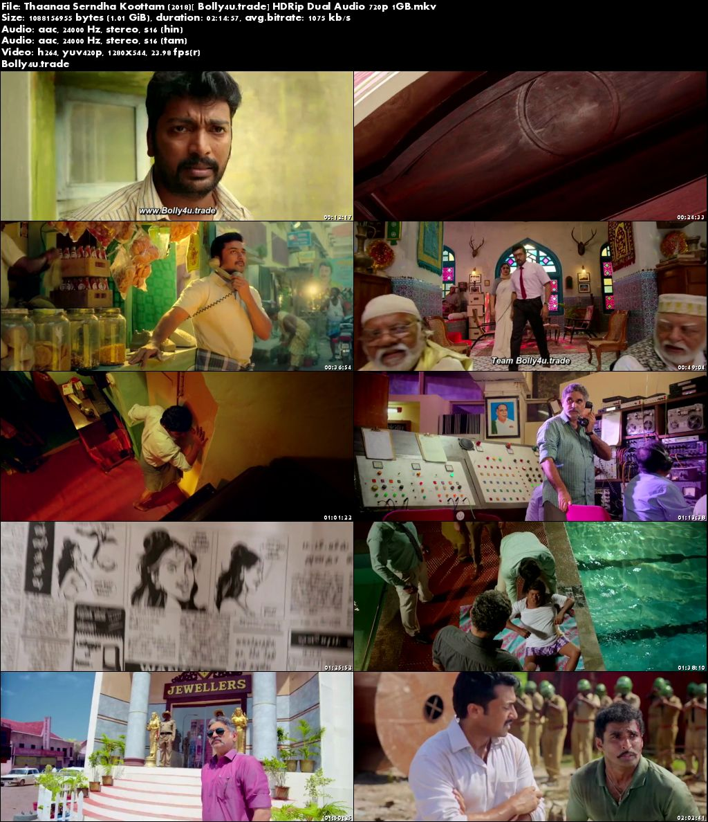 Thaanaa Serndha Koottam 2018 HDRip 1GB Hindi Dual Audio 720p Download