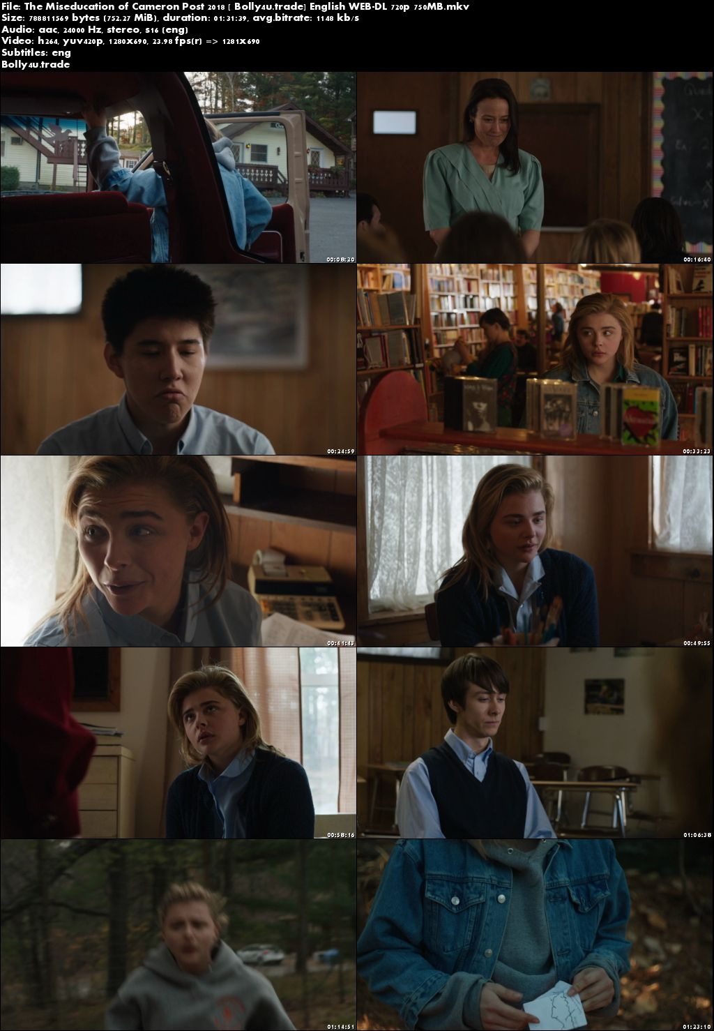 The Miseducation of Cameron Post 2018 WEB-DL 300MB English 480p ESub Download