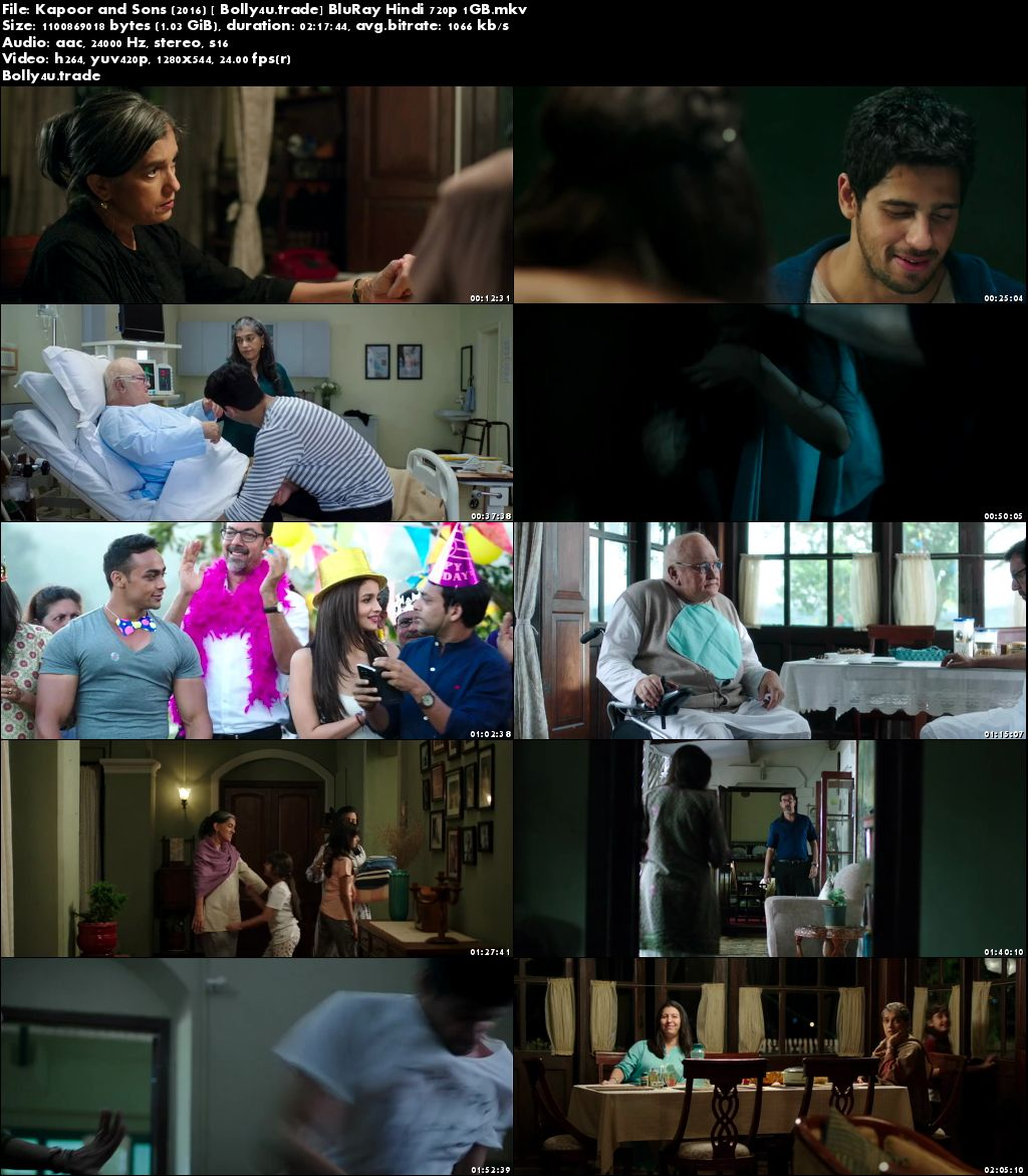 Kapoor and Sons 2016 BluRay 1Gb Full Hindi Movie Download 720p