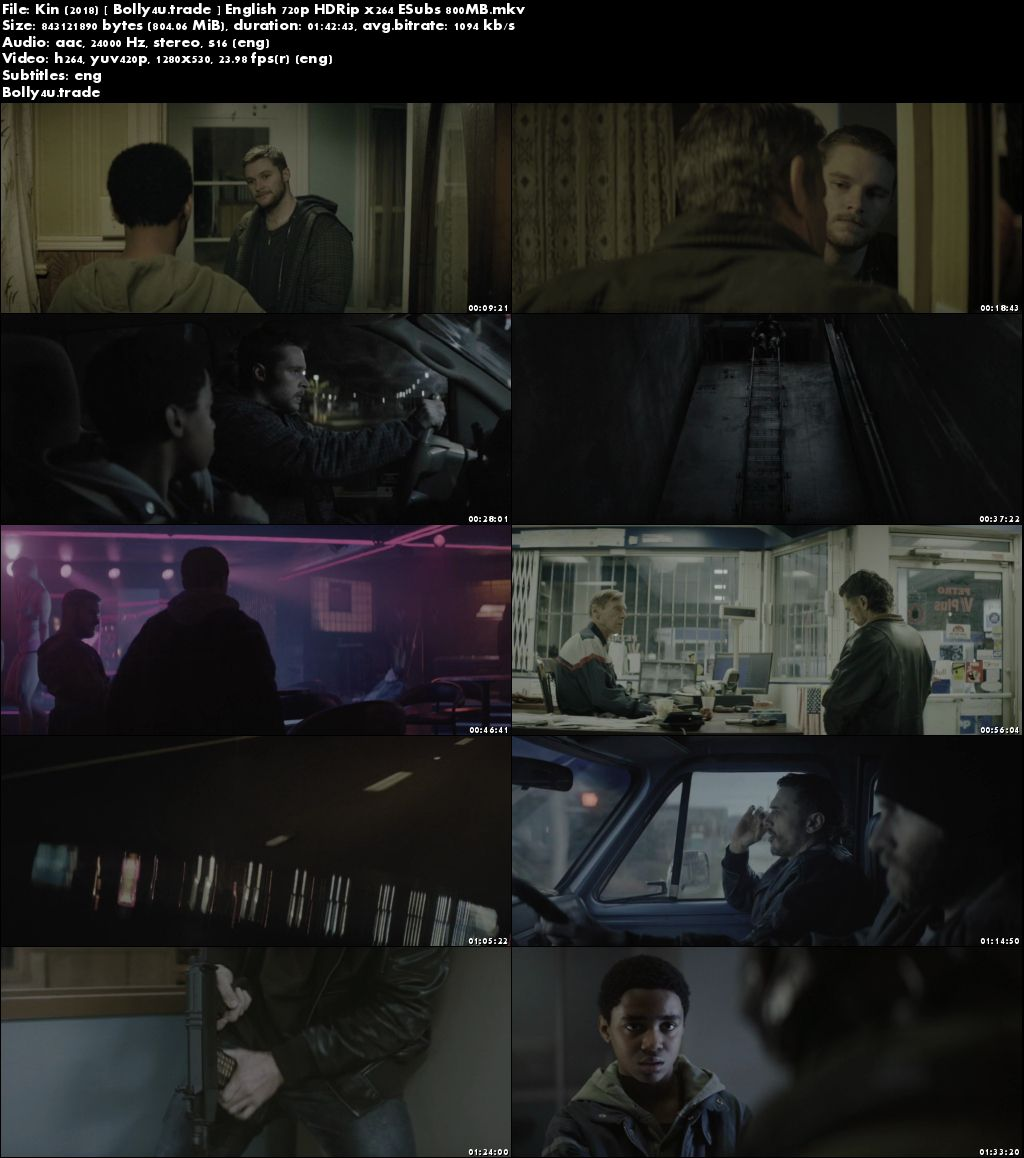 Kin 2018 HDRip 800Mb Full English Movie Download 720p ESub