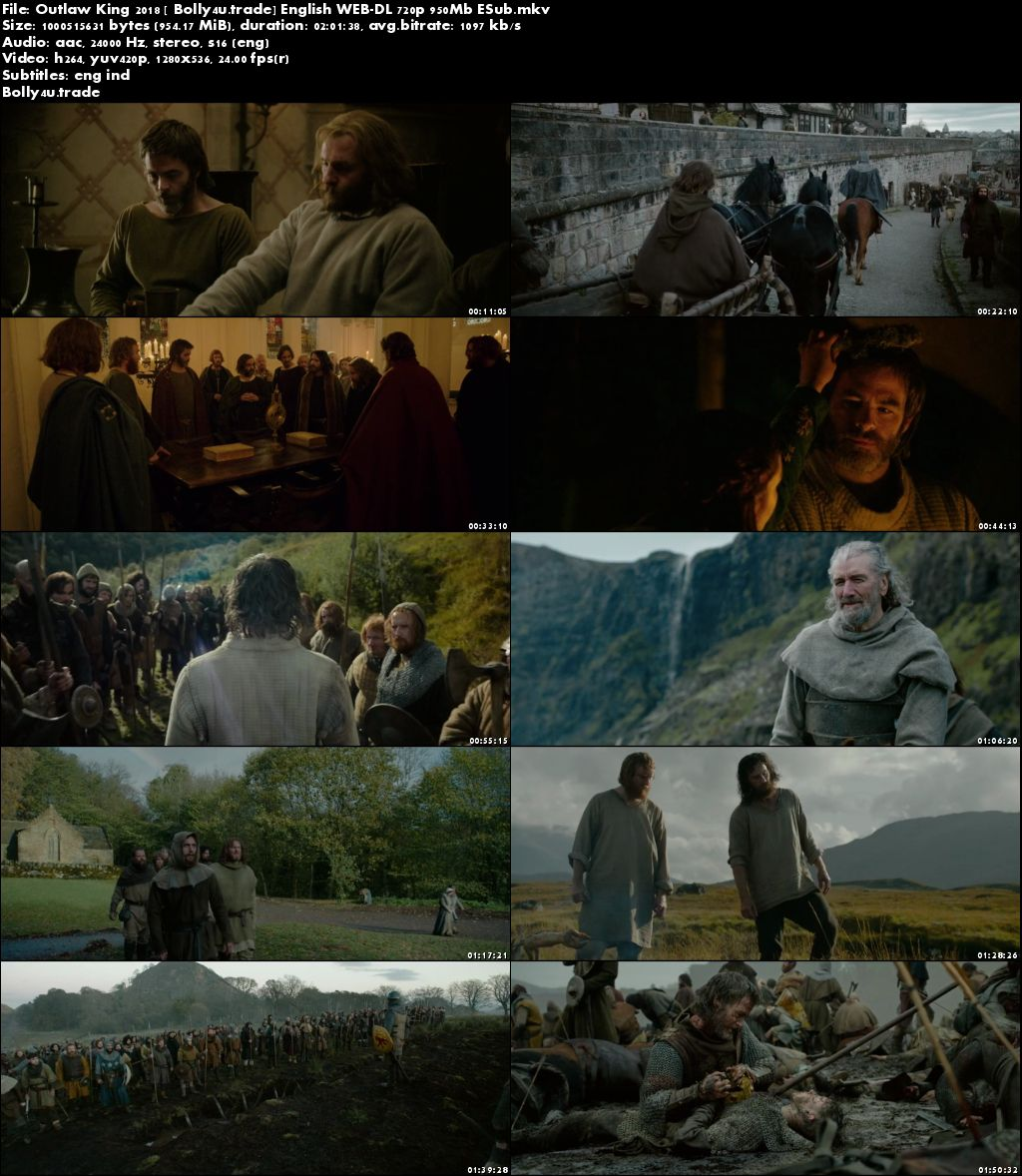 Outlaw King 2018 WEB-DL 300Mb English 480p ESub Download