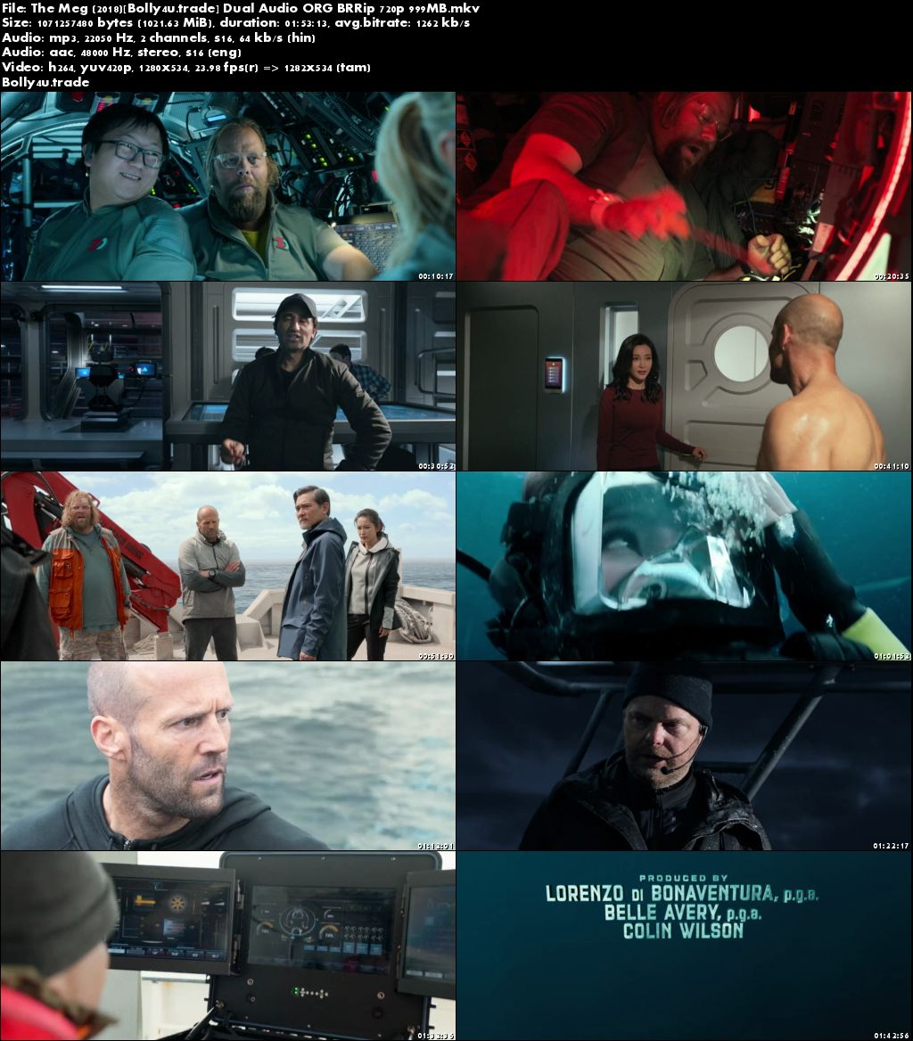 The Meg 2018 BRRip 300Mb Hindi Dual Audio ORG 480p Download