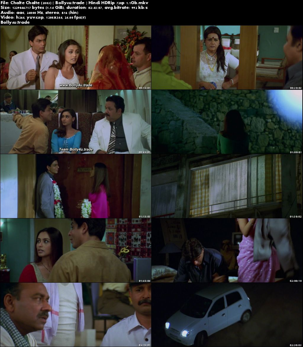 Chalte Chalte 2003 HDRip 450MB Full Hindi Movie Download 480p
