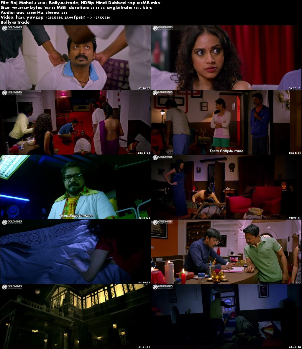 Raj Mahal 4 2018 HDRip 850Mb Full Hindi Dubbed Movie Download 720p