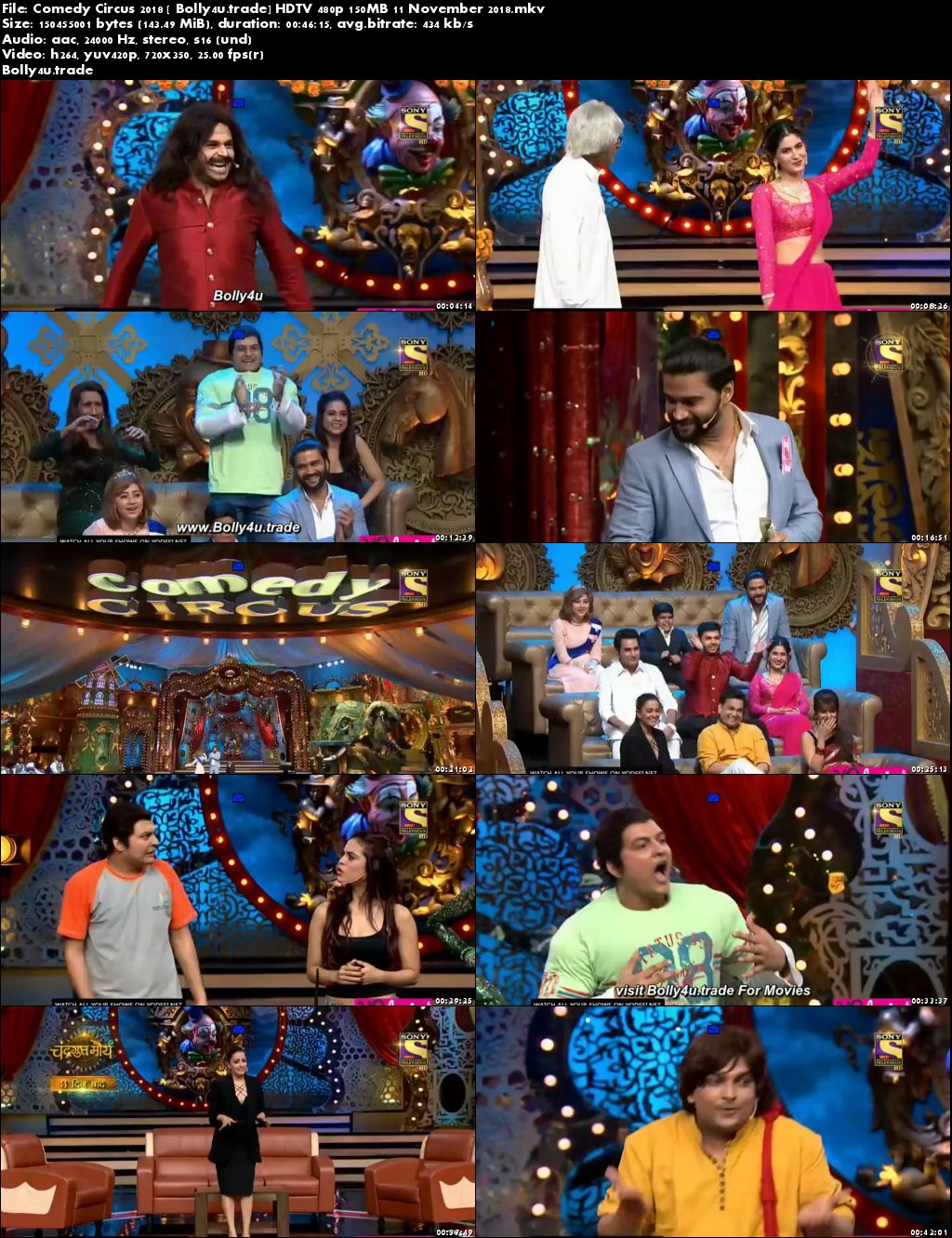 Comedy Circus 2018 HDTV 480p 150MB 11 November 2018 Download
