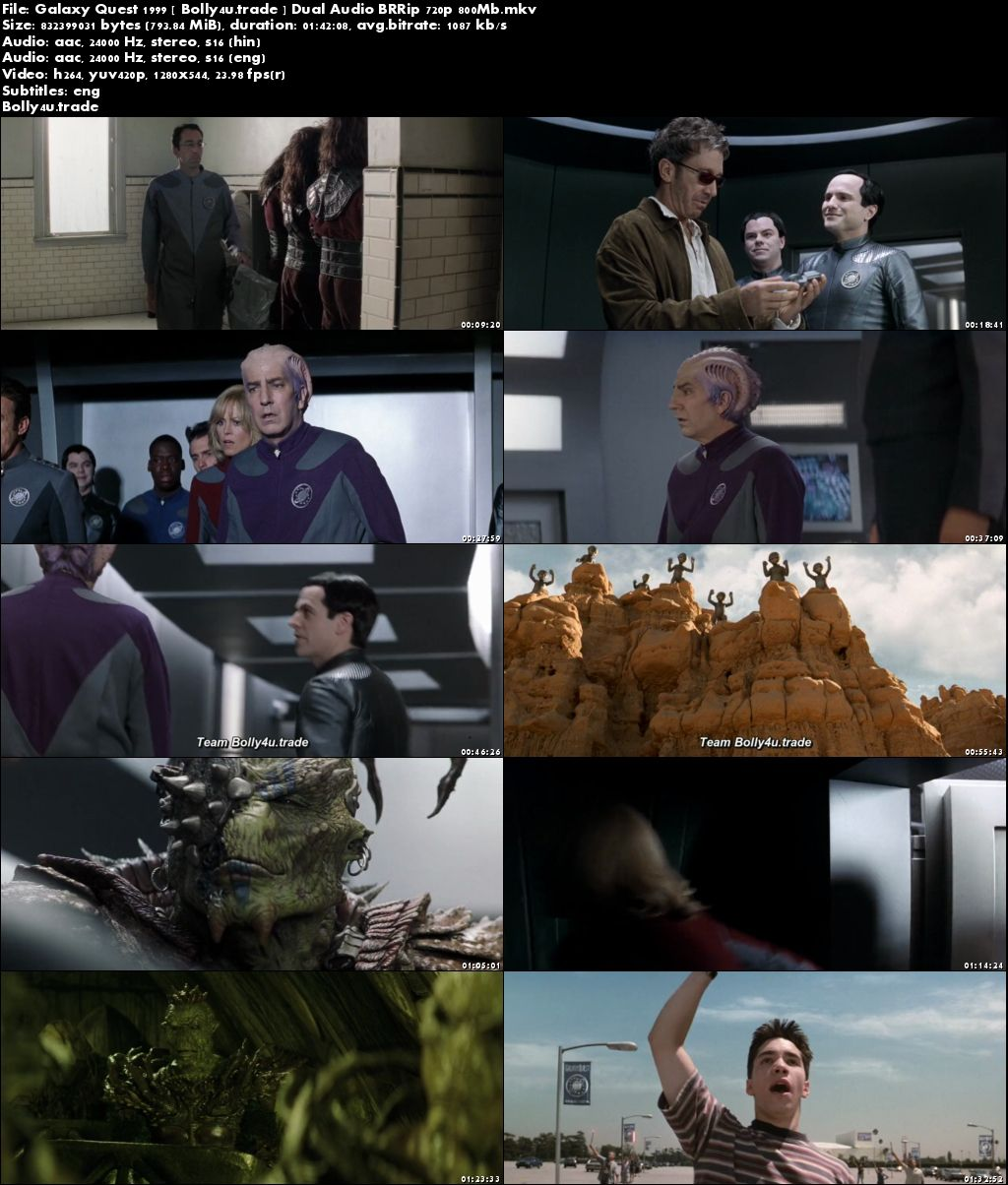 Galaxy Quest 1999 BRRip 800Mb Hindi Dual Audio 720p Download