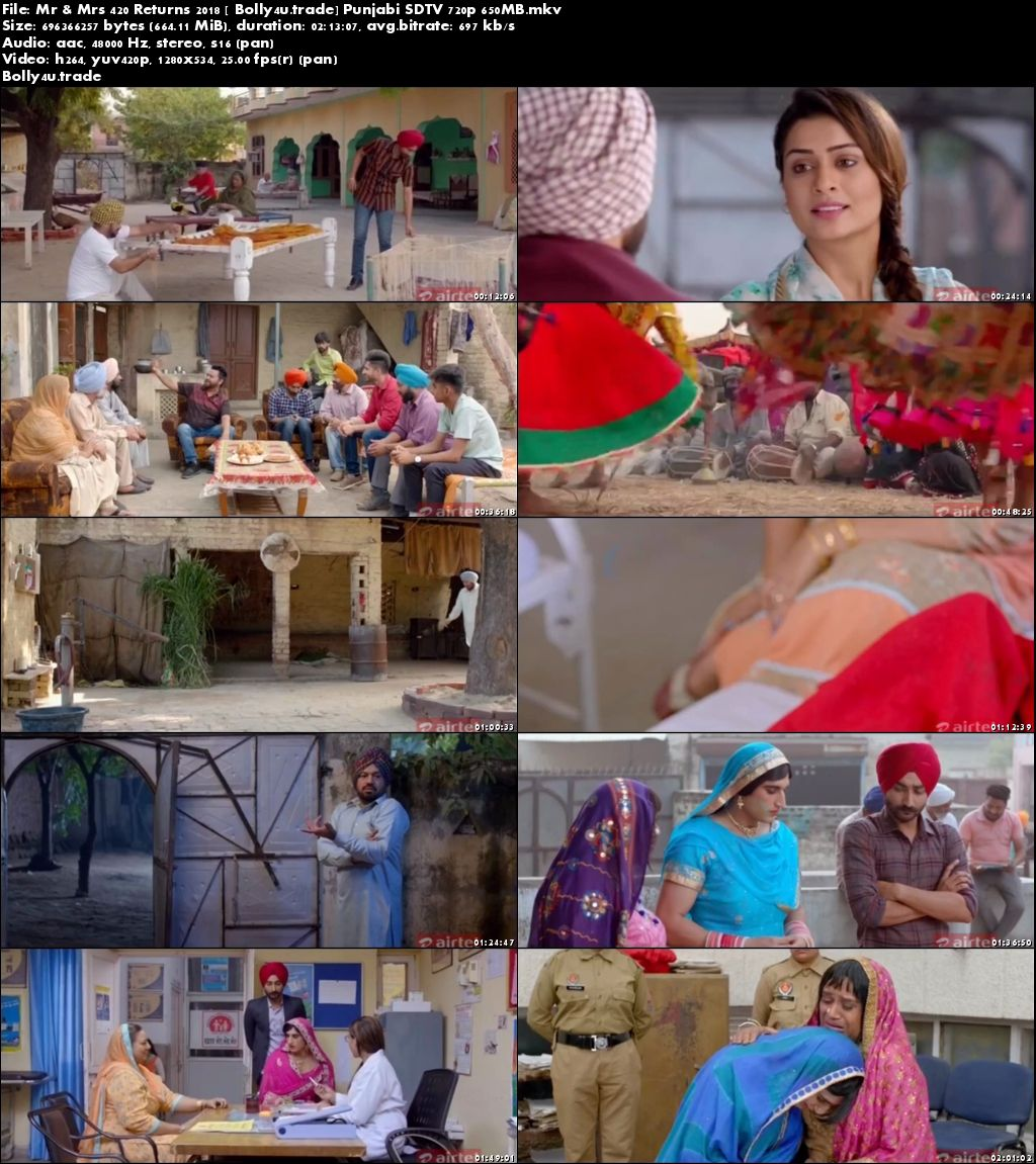 Mr & Mrs 420 Returns 2018 SDTV 300Mb Punjabi 480p Download