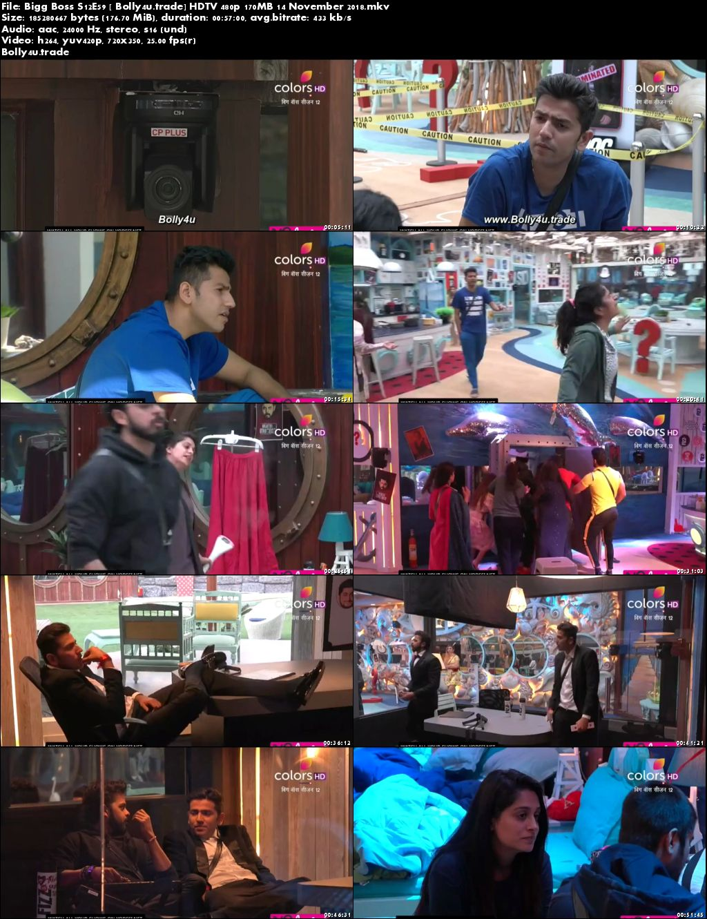 Bigg Boss S12E59 HDTV 480p 170MB 14 November 2018 Download