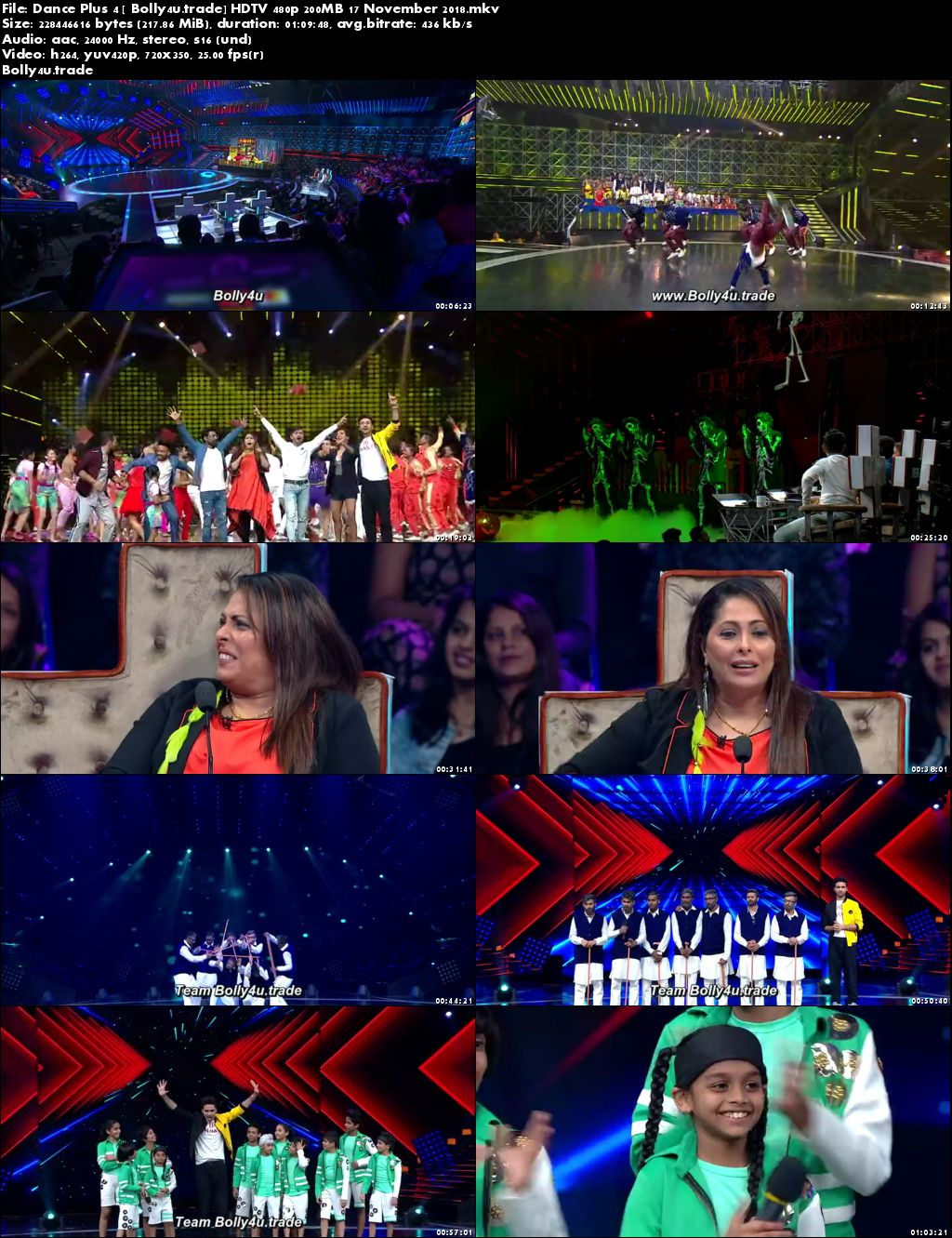 Dance Plus Season 4 HDTV 480p 200MB 17 November 2018 Download