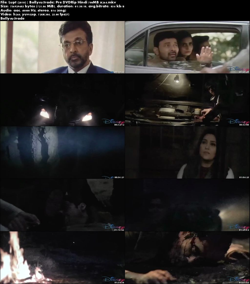 Lupt 2018 Pre DVDRip 350Mb Full Hindi Movie Download 480p