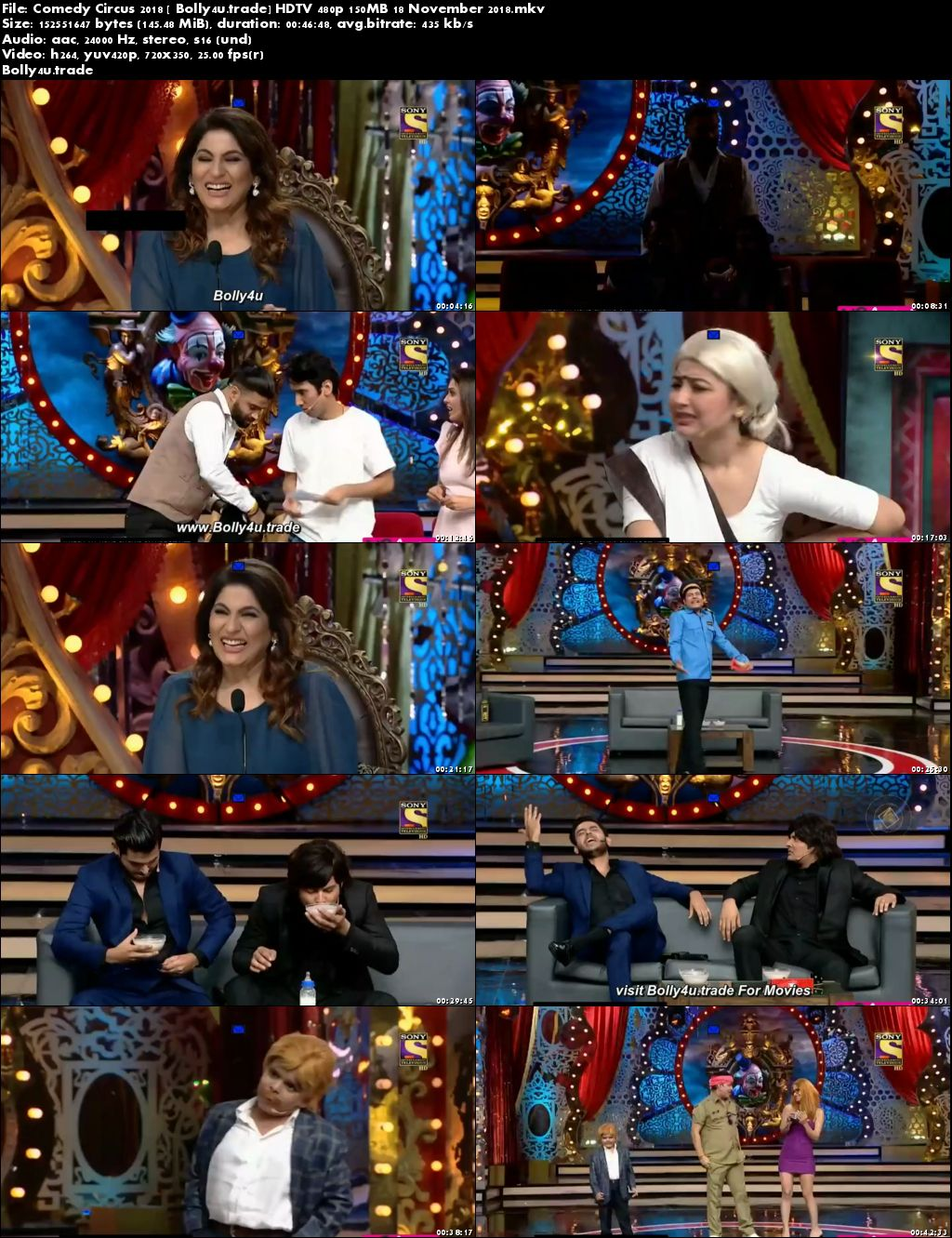 Comedy Circus 2018 HDTV 480p 150MB 18 November 2018 Download