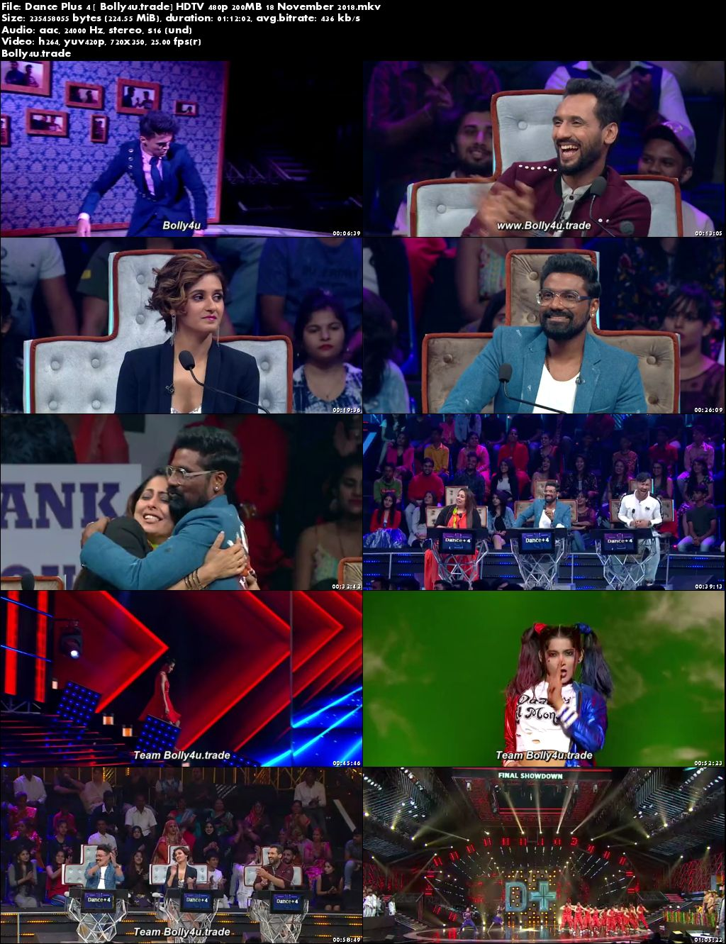 Dance Plus Season 4 HDTV 480p 200MB 18 November 2018 Download