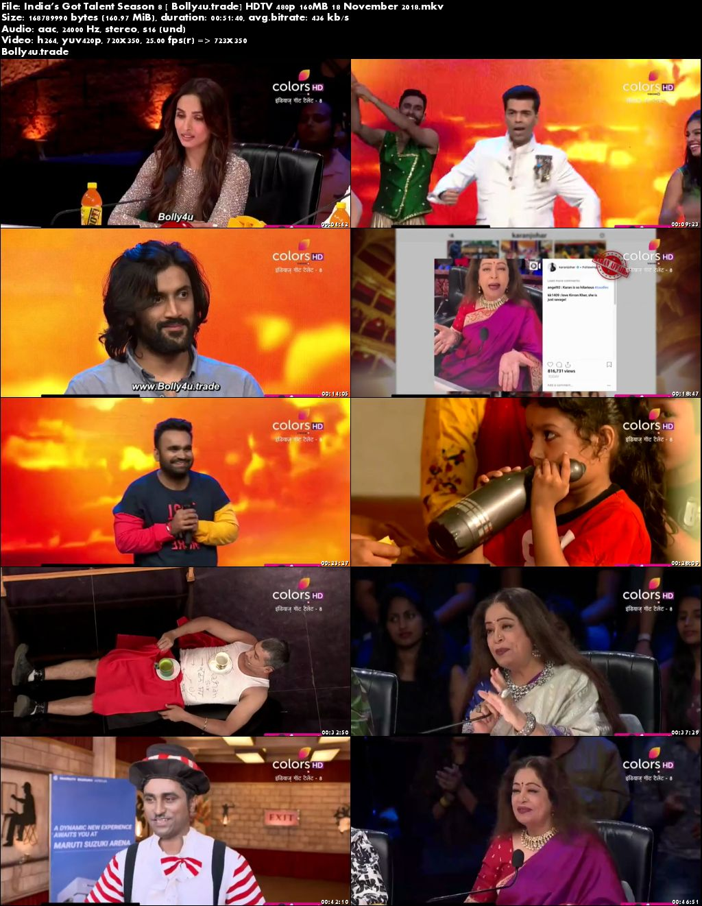 Indias Got Talent Season 8 HDTV 480p 160MB 18 November 2018 Download