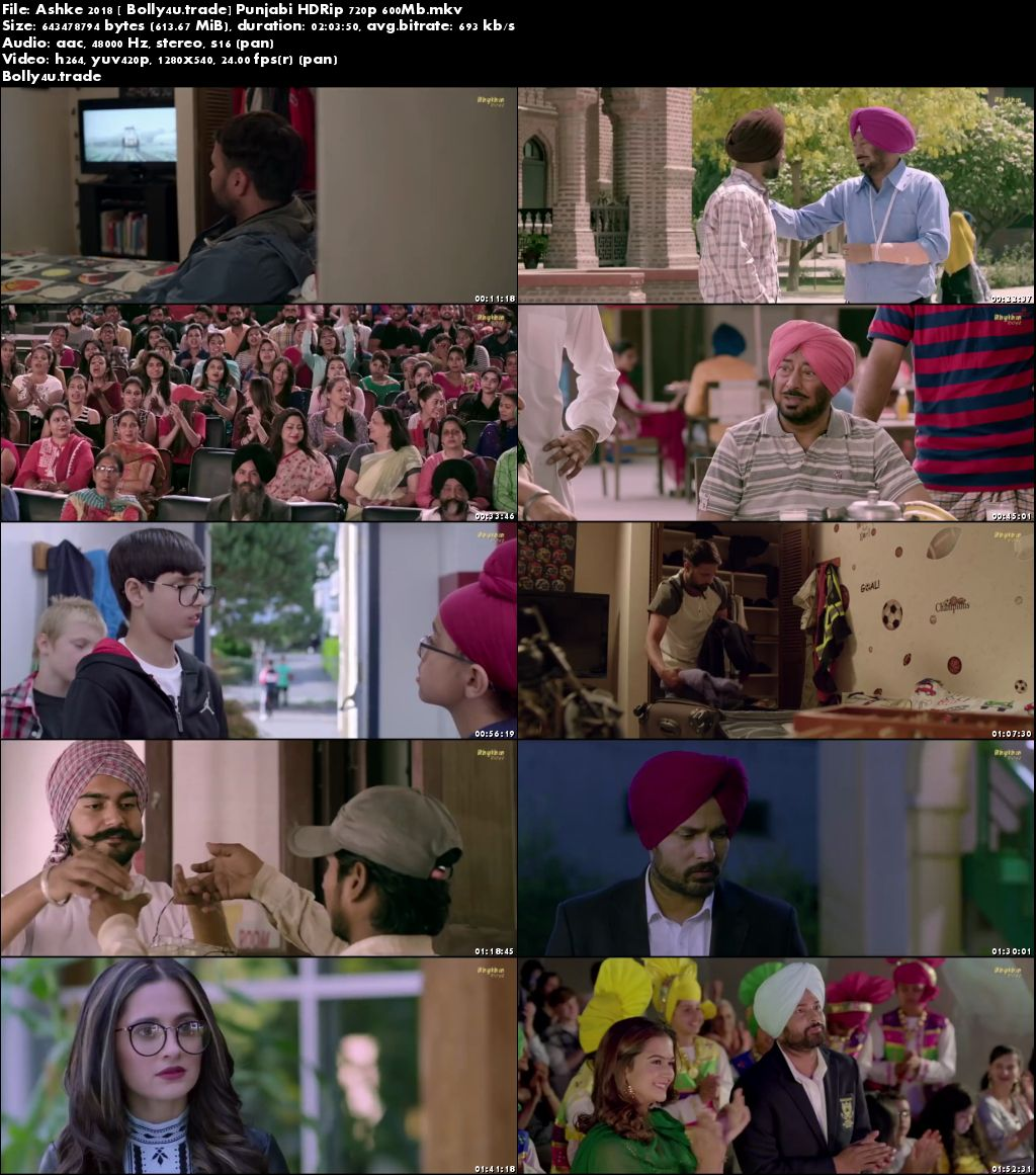 Ashke 2018 HDRip 350Mb Punjabi Full Movie Download 480p