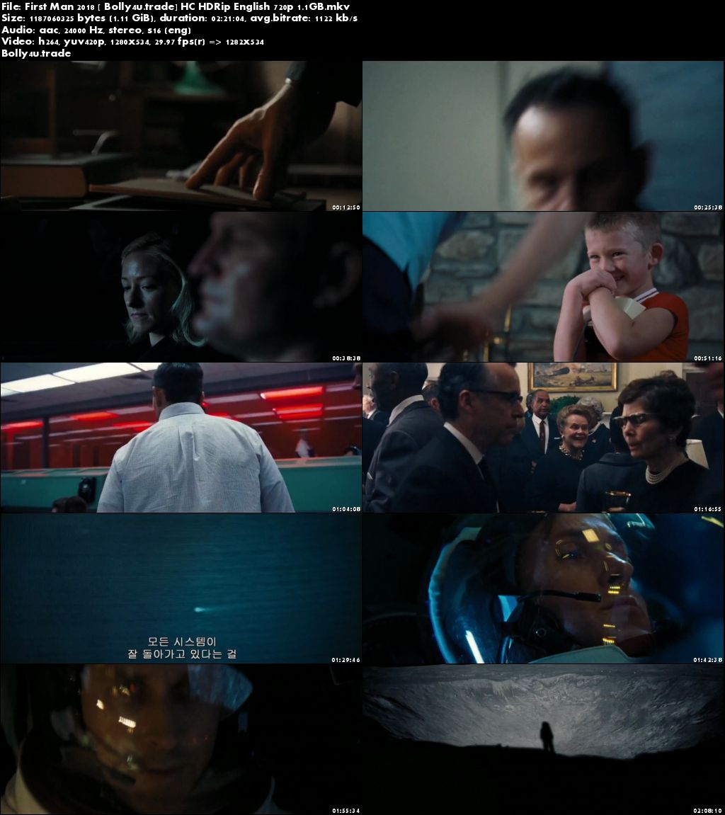 First Man 2018 HC HDRip 1.1GB English 720p Download