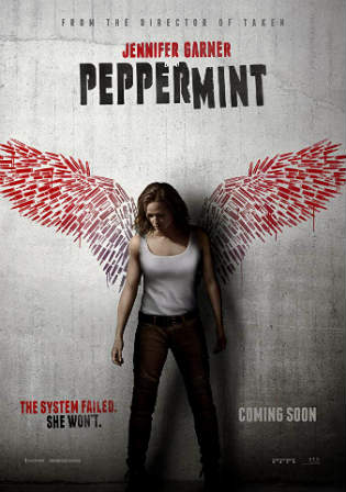 Peppermint 2018 WEB-DL 850Mb Full English Movie Download 720p ESub Watch Online Free Bolly4u