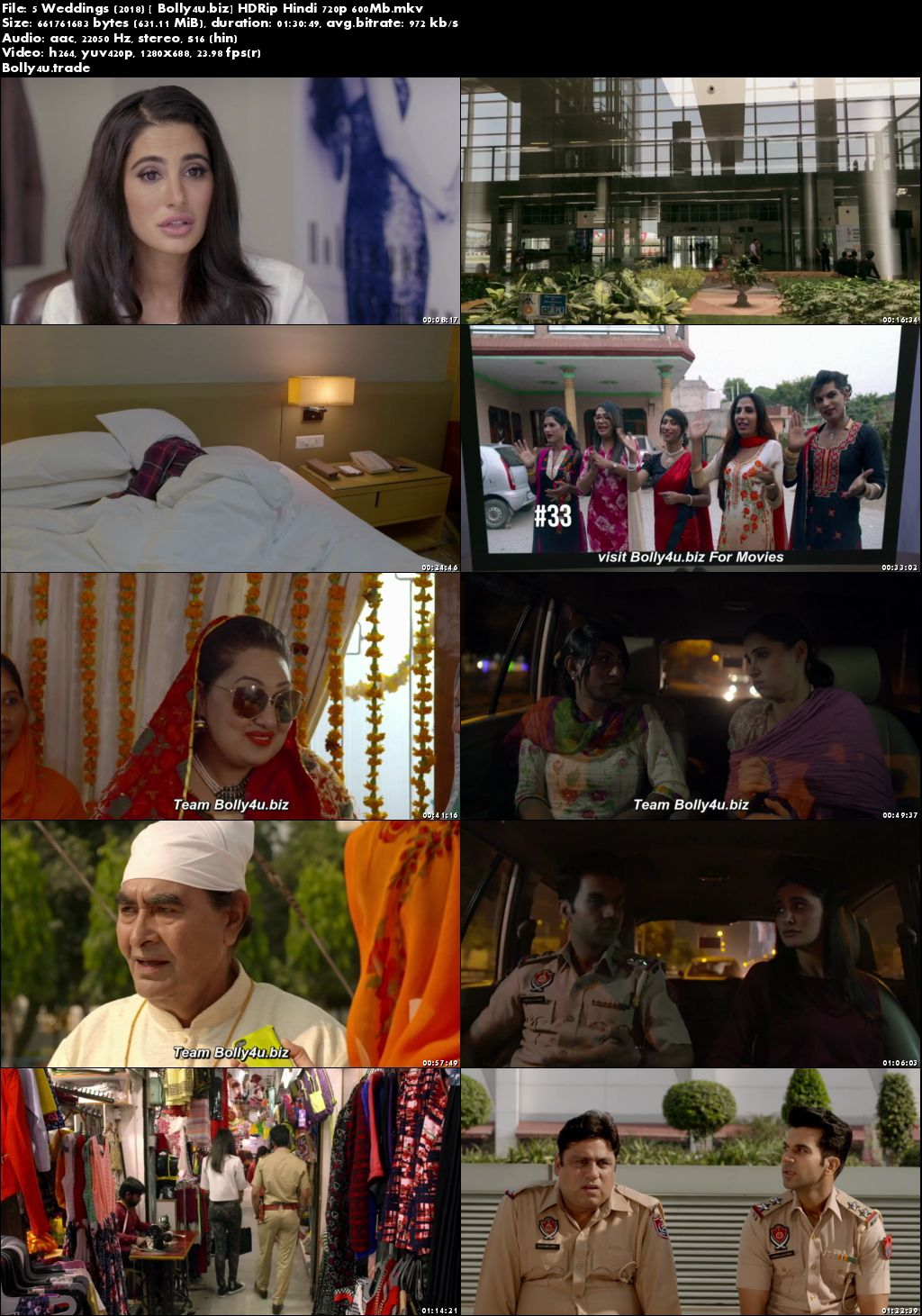 5 Weddings 2018 HDRip 600MB Full Hindi Movie Download 720p