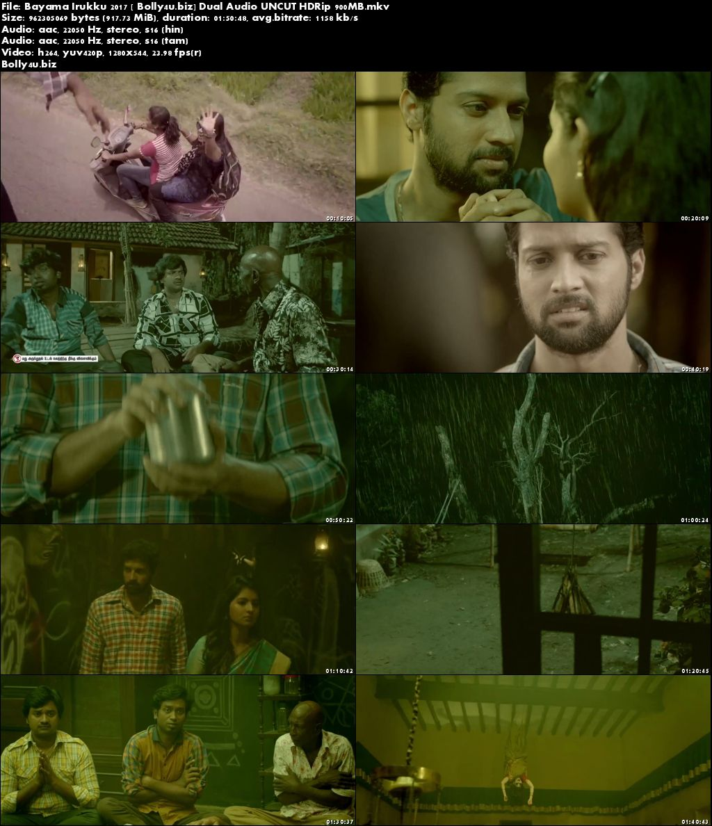 Bayama Irukku 2017 HDRip 900MB UNCUT Hindi Dual Audio 720p Download