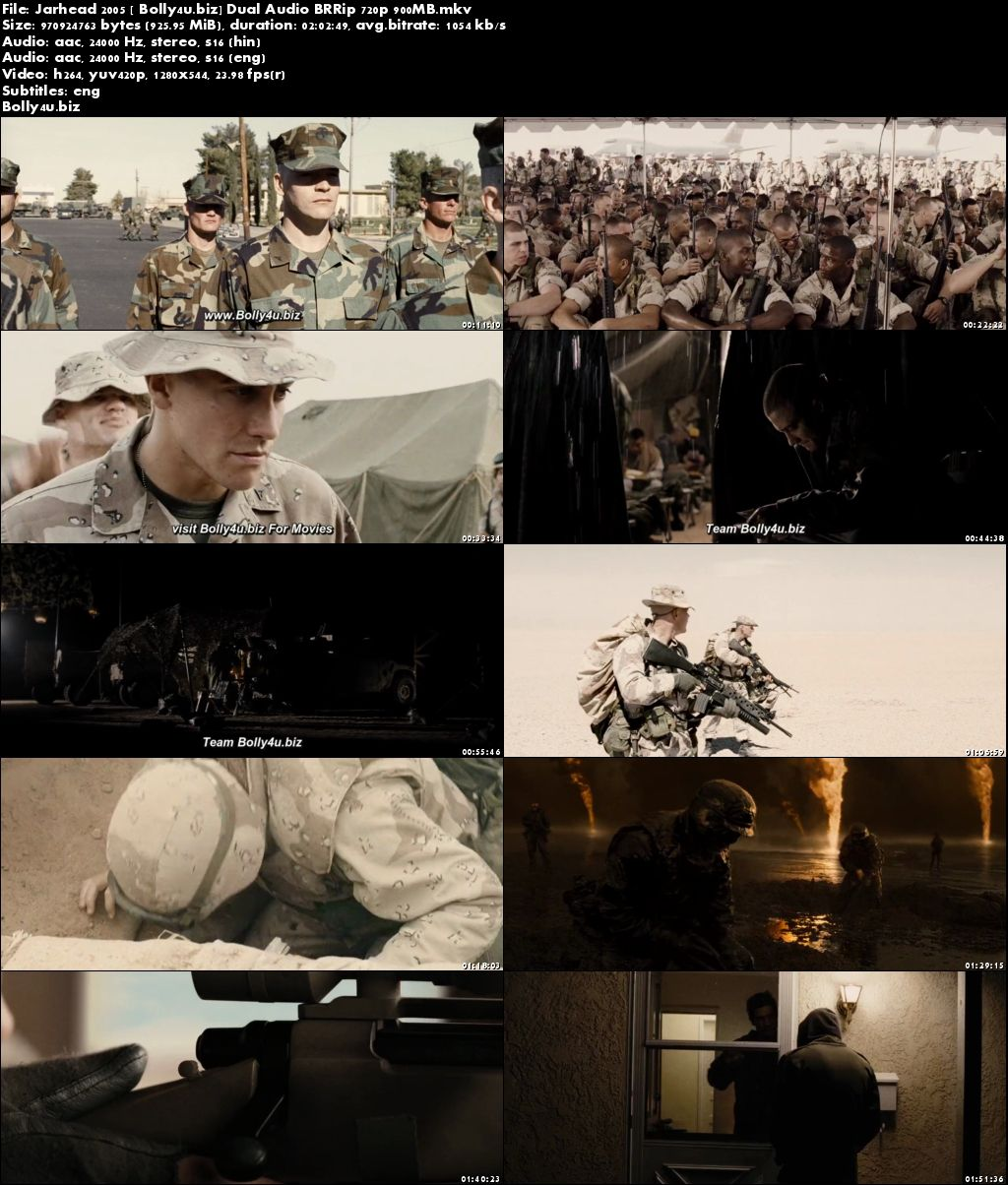 Jarhead 2005 BluRay 350MB Hindi Dual Audio ORG 480p Download