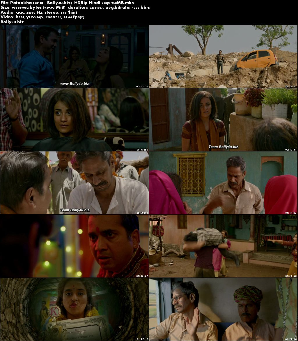 Pataakha 2018 HDRip 950Mb Full Hindi Movie Download 720p