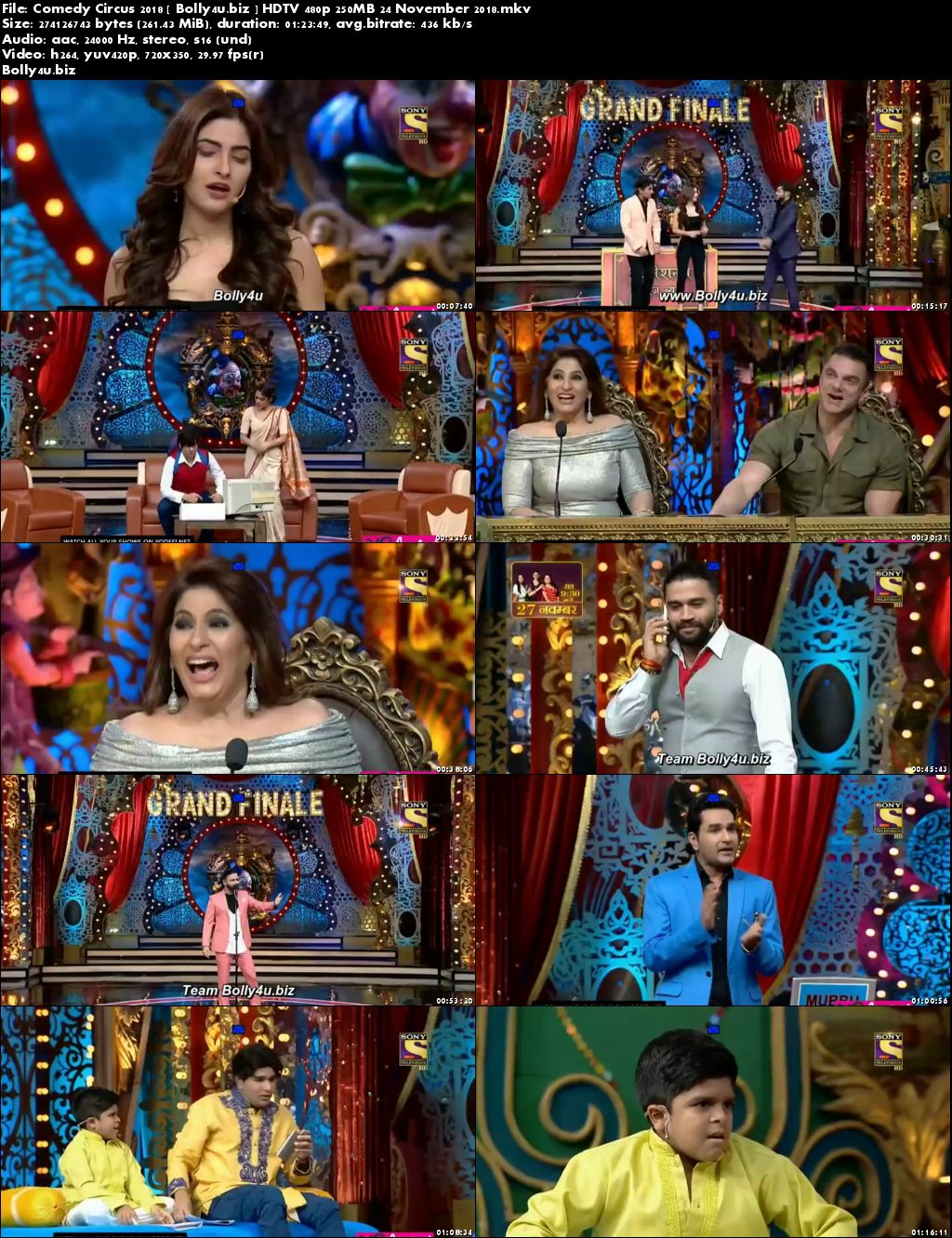Comedy Circus 2018 HDTV 480p 250MB 24 November 2018 Download