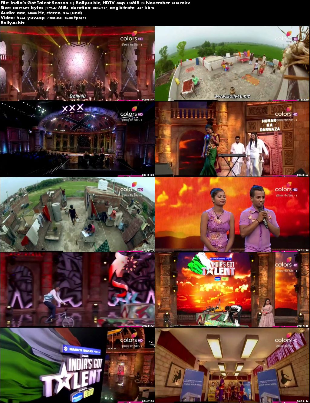 Indias Got Talent Season 8 HDTV 480p 180MB 24 November 2018 Download