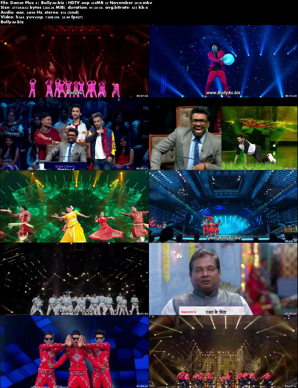 Dance Plus Season 4 HDTV 480p 250MB 25 November 2018 Download