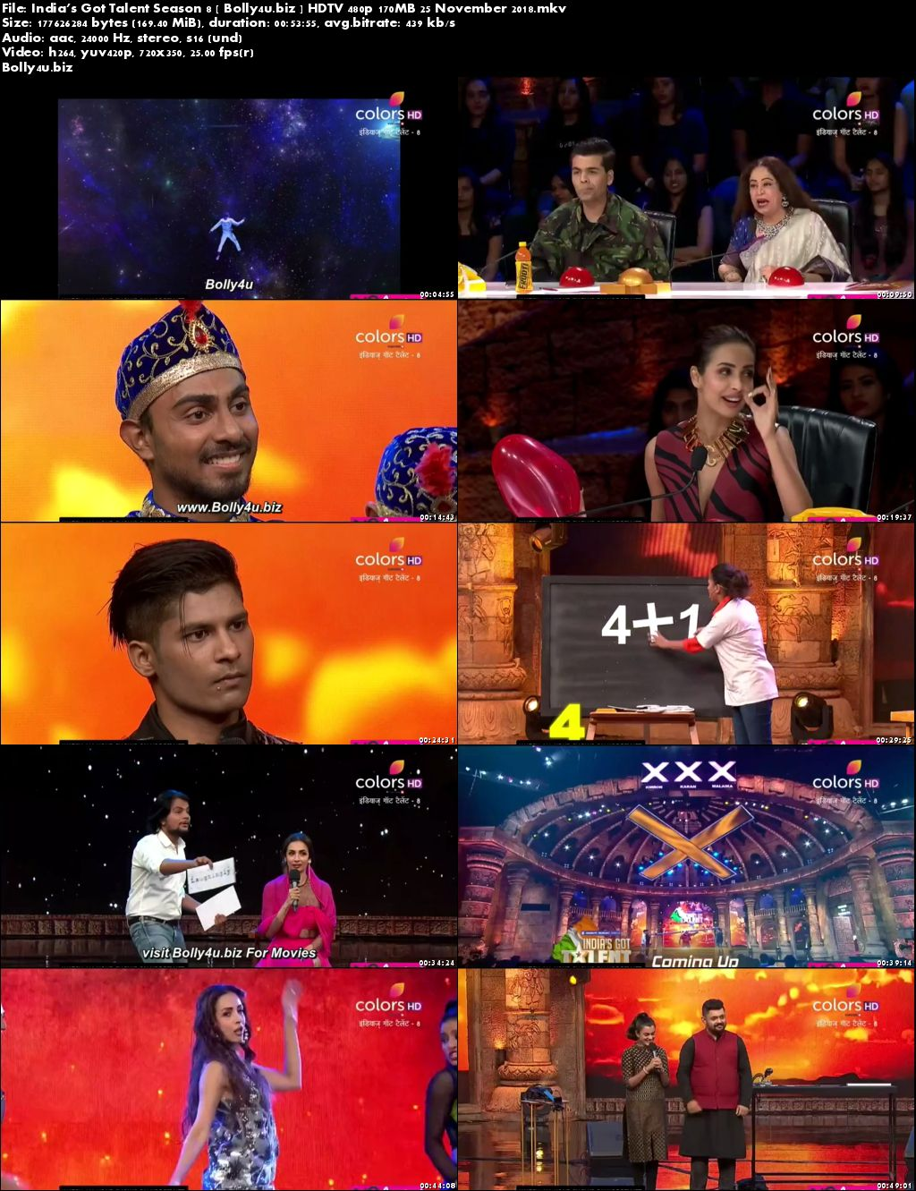 Indias Got Talent Season 8 HDTV 480p 170MB 25 November 2018 Download