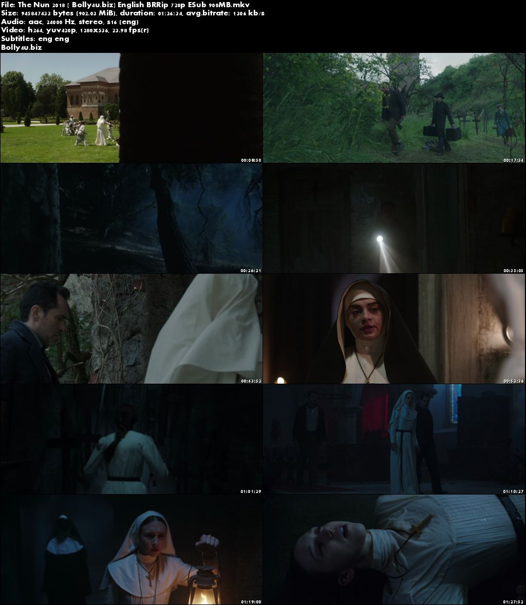 The Nun 2018 BRRip 900Mb English 720p ESub Download