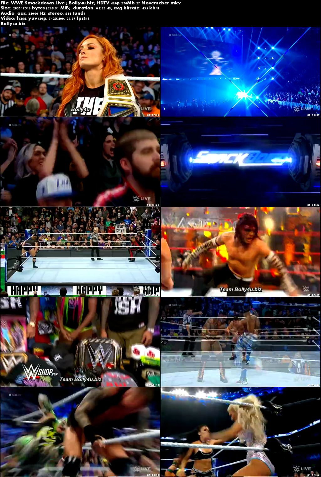 WWE Smackdown Live HDTV 480p 270Mb 27 November Download
