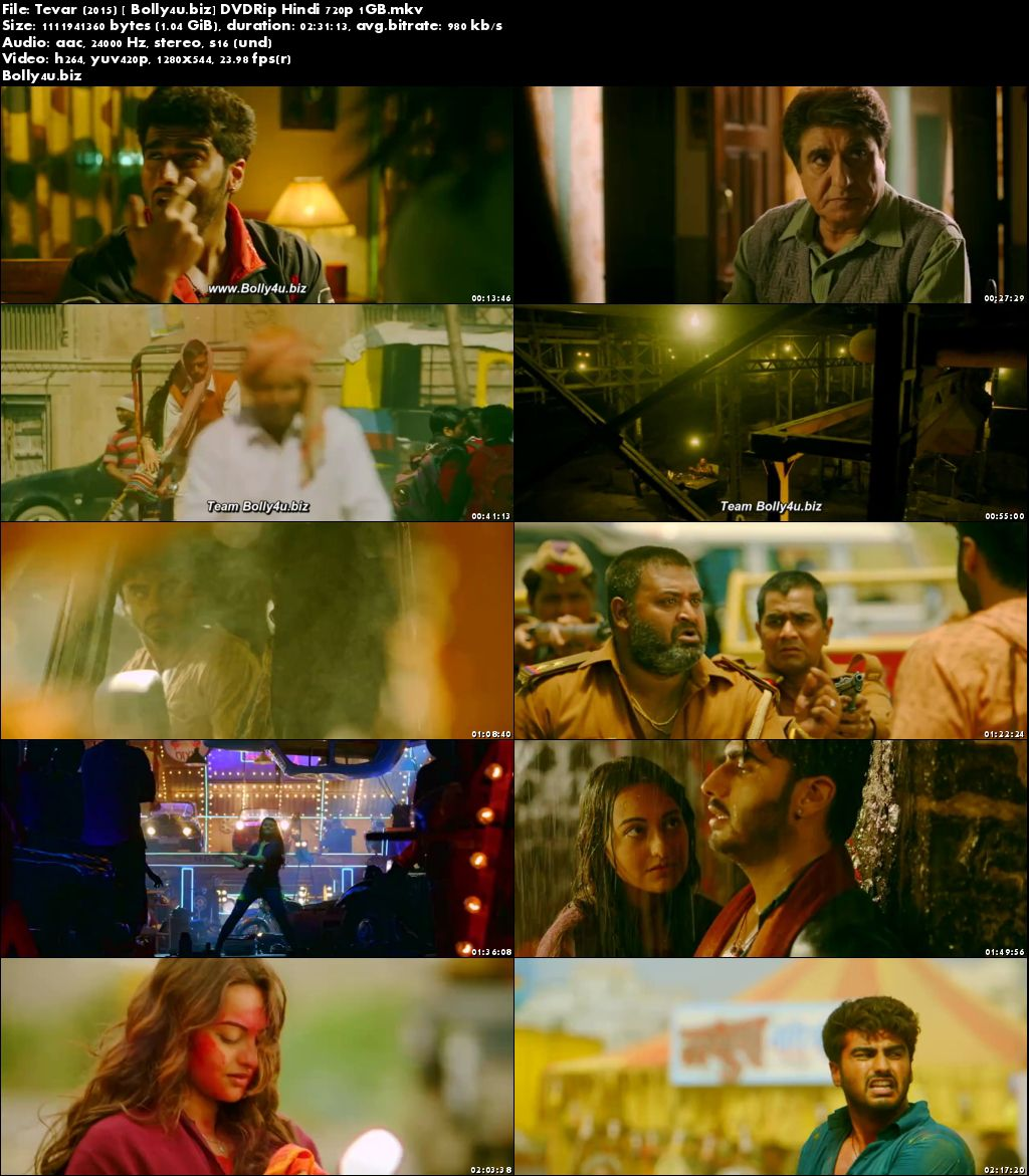 Tevar 2015 DVDRip 400Mb Full Hindi Movie Download 480p
