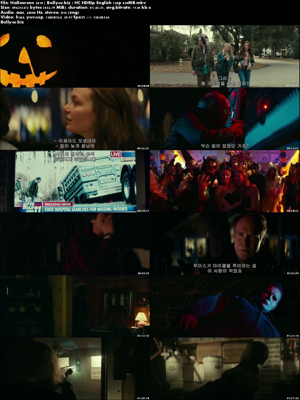 Halloween 2018 HC HDRip 850Mb English 720p Download
