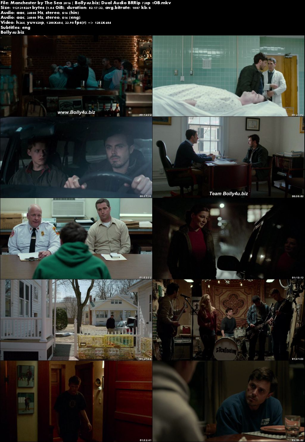 Manchester by The Sea 2016 BRRip 400Mb Hindi Dual Audio ORG 480p Download