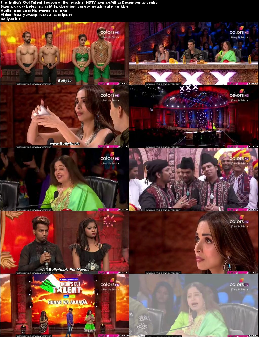 Indias Got Talent Season 8 HDTV 480p 170MB 02 December 2018 Download