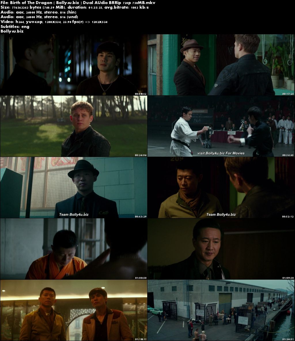 Birth of The Dragon 2016 BluRay 750MB Hindi Dual Audio 720p Download