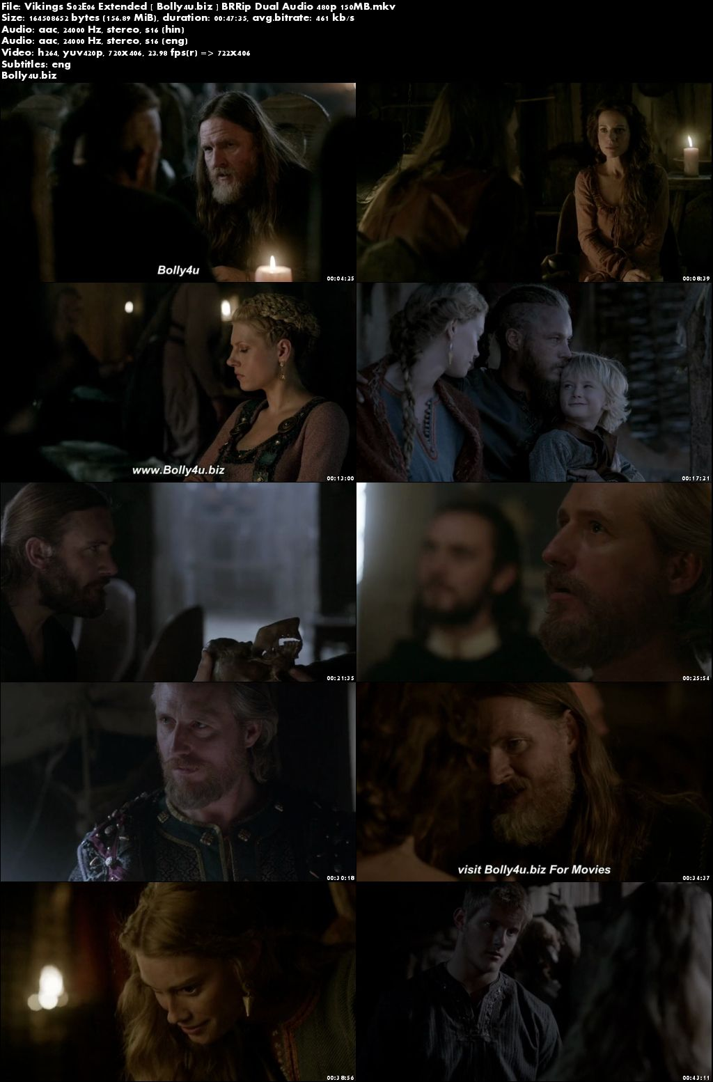 Vikings S02E06 Extended BRRip 150MB Hindi Dual Audio 480p Download