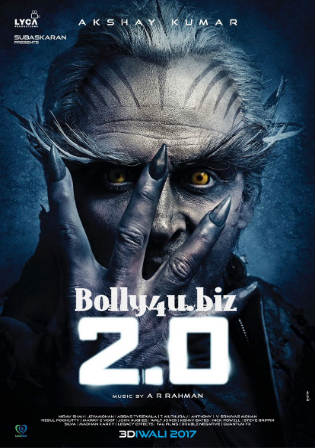 2.0 2018 Pre DVDRip 300MB Full Hindi Movie Download 480p