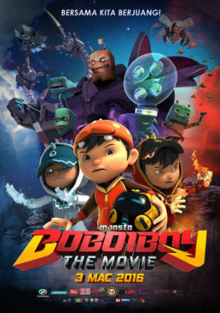 BoBoiBoy The Movie 2016 WEB-DL 900Mb Hindi Dual Audio 720p