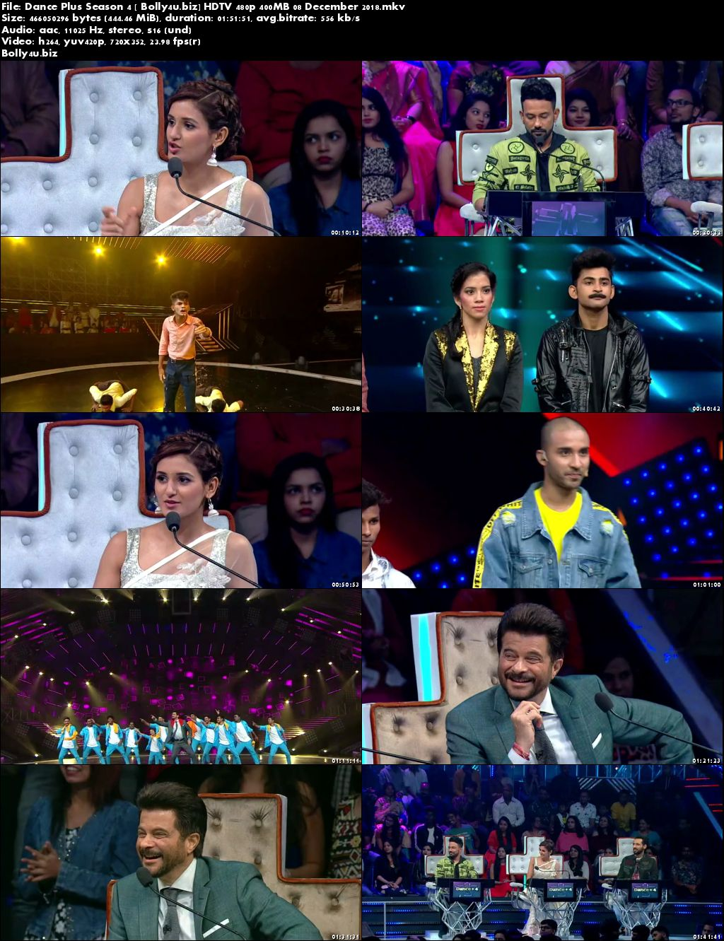 Dance Plus Season 4 HDTV 480p 400MB 08 December 2018 Download