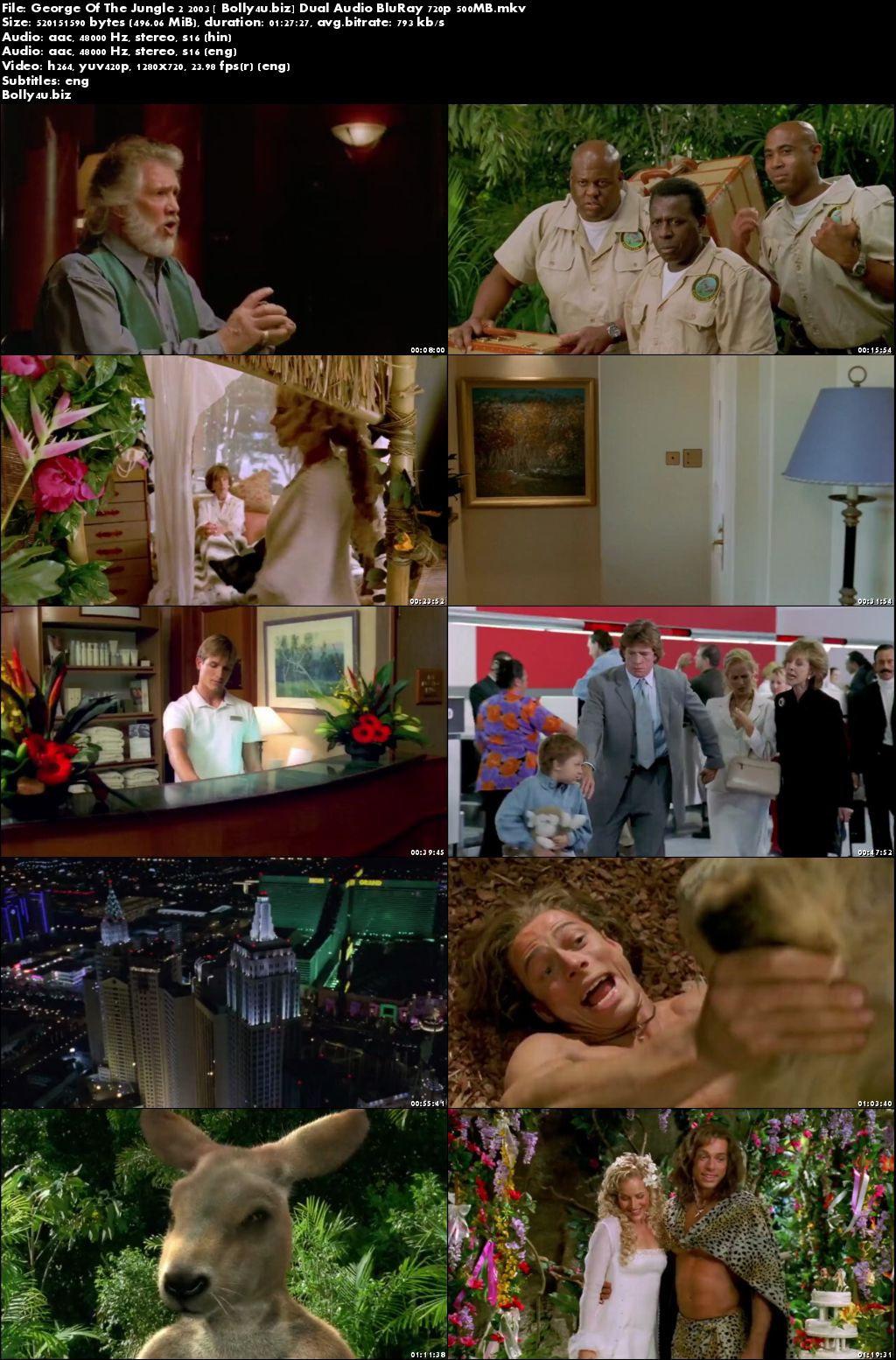 George Of The Jungle 2 2003 BRRip 500Mb Hindi Dual Audio 720p Download