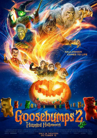 Goosebumps 2 Haunted Halloween 2018 HDRip 700Mb Hindi Dual Audio 720p