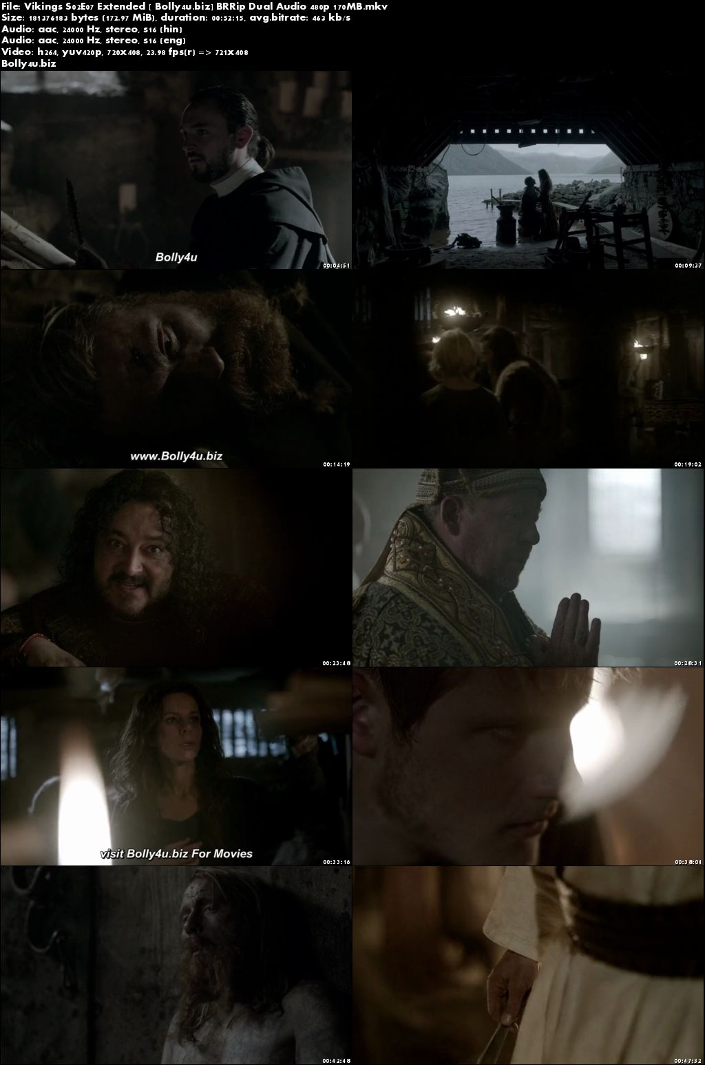 Vikings S02E07 Extended BRRip 170MB Hindi Dual Audio 480p Download