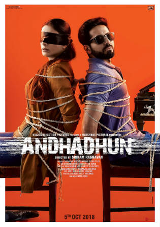Andhadhun 2018 HDRip 400MB Full Hindi Movie Download 480p