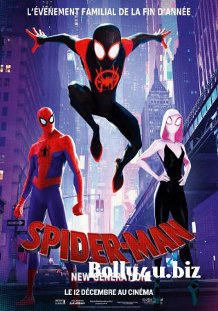 Spider-Man Into the Spider-Verse 2018 HDCAM 350Mb Hindi Dual Audio 480p Watch Online Full Movie Download bolly4u