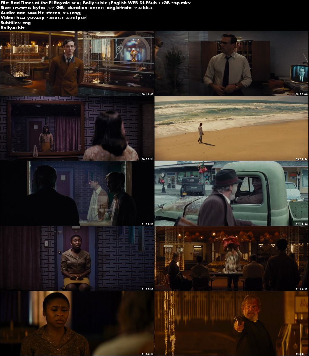 Bad Times at the El Royale 2018 WEB-DL 350Mb English 480p ESub Download