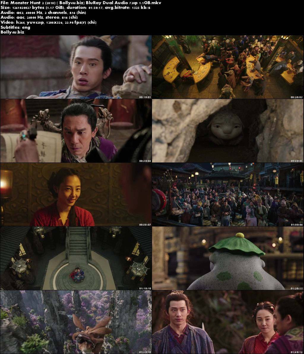 Monster Hunt 2 2018 BluRay 350MB Hindi Dubbed Dual Audio 480p ESub Download