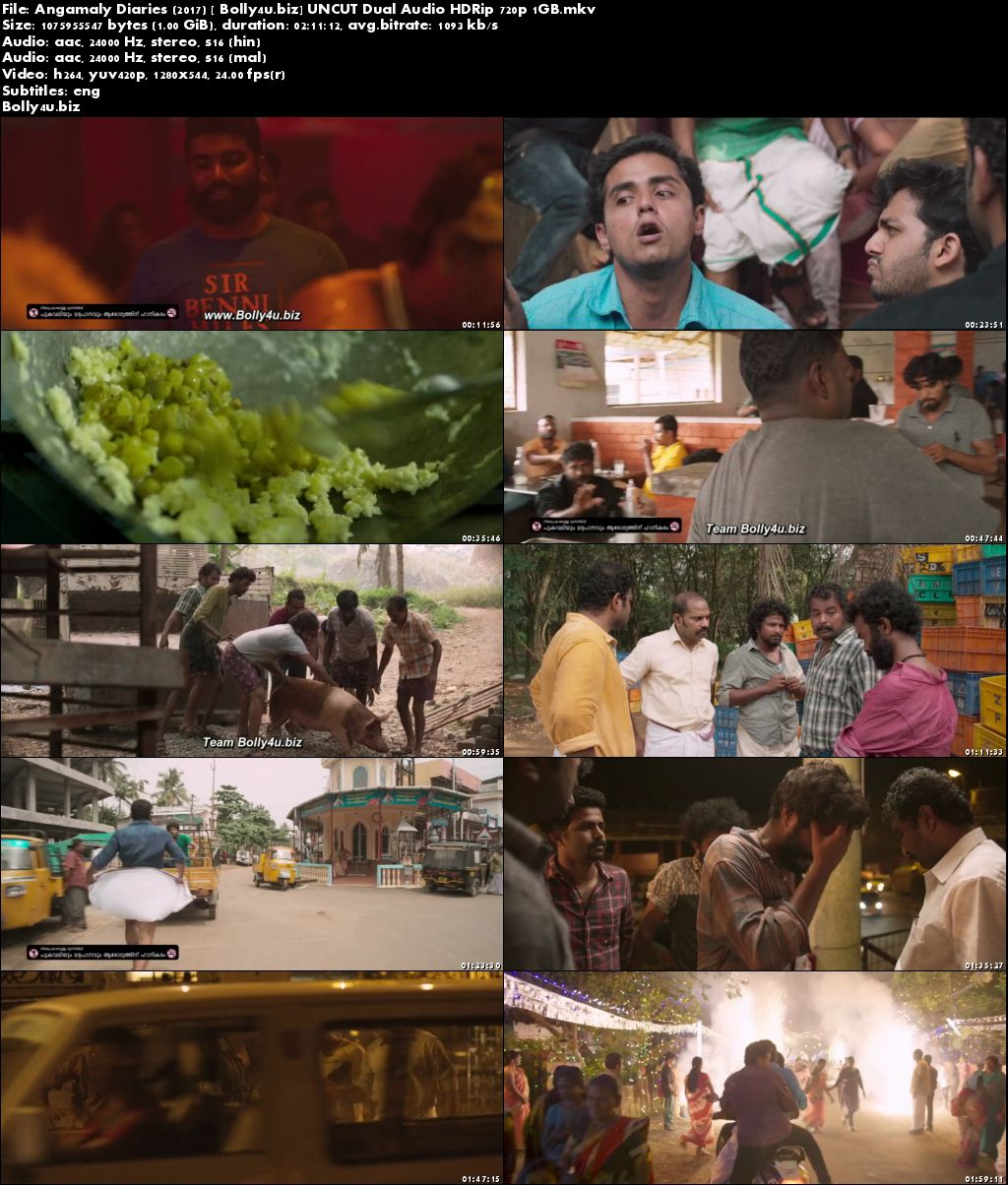 Angamaly Diaries 2017 HDRip 1GB UNCUT Hindi Dual Audio 720p Download